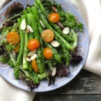 Asparagus in mustard vinaigrette salad