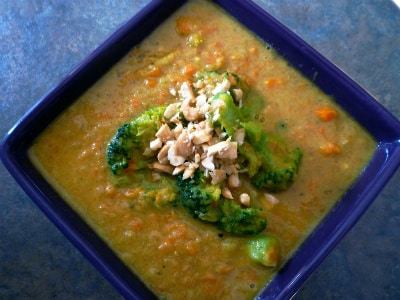 Broccoli, Apple, and Peanut Soup