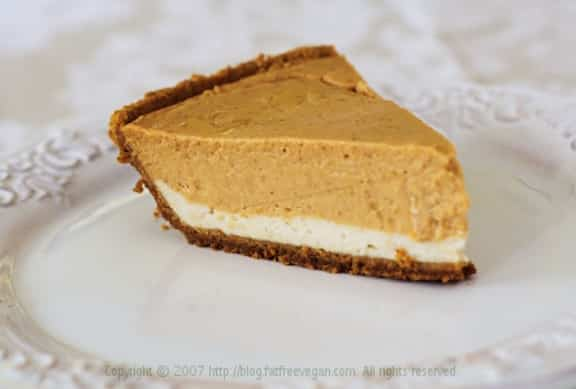 Double layer vegan pumpkin cheesecake recipe