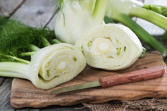 Fennel on cutting board