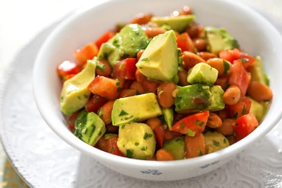 Avocado and pinto bean salad recipe