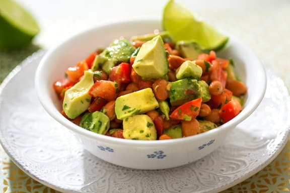 Avocado and pinto bean salad