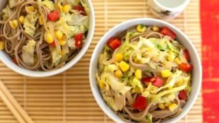 Soba with corn and cabbage2