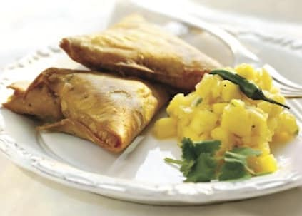 Samosas and Mango Chutney
