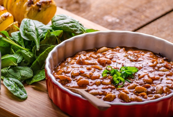 Vegan Barbecue-flavored baked beans