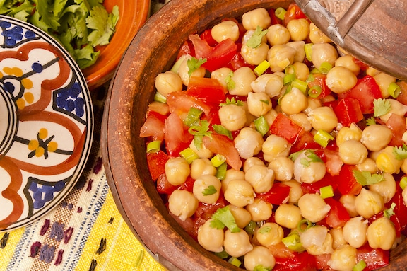 Chickpeas And Tomatoes with ginger