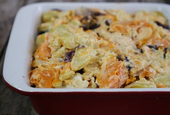 Sweet and White Potato casserole recipe