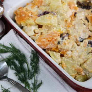 Sweet and White Potato casserole with apples