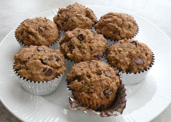 Vegan Zucchini-Raisin Muffins