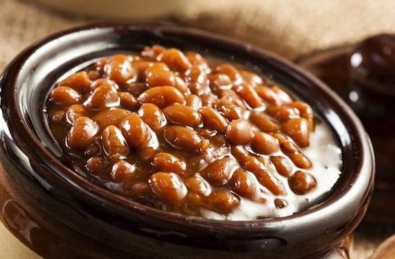 Slow-cooker Boston baked beans recipe