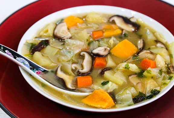 MIso Soup with Winter Vegetables