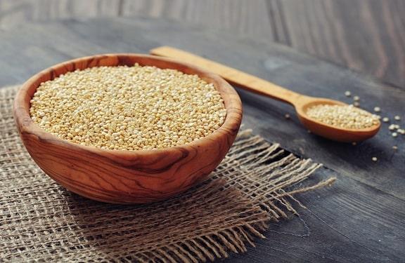 Raw Quinoa in a bowl