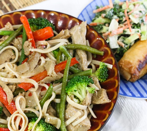 Seitan Chow Fun Noodles recipe