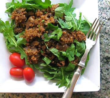 Smoky Quinoa with Mushrooms