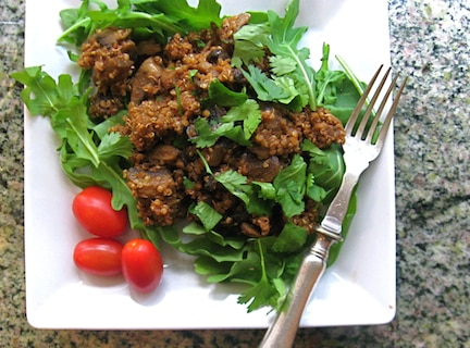 Smoky Quinoa with Mushrooms