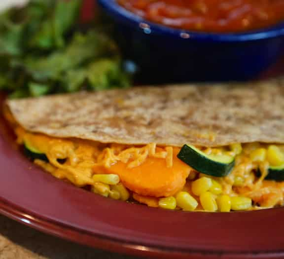 Vegan Sweet Potato & Corn Quesadillas recipe