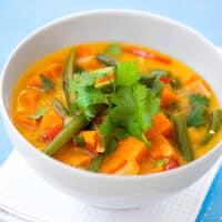 Thai-spiced sweet potato stew