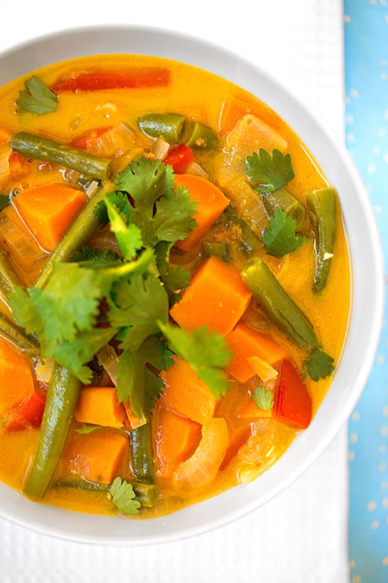 Thai-spiced sweet potato stew