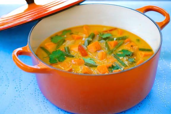 Thai-spiced sweet potato stew recipe