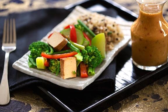 Thai style green veggies with coconut peanut sauce forumfinder Choice Image