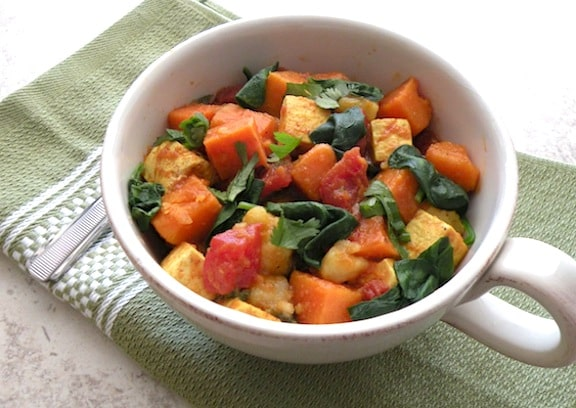 Easy Curried Sweet Potatoes and Tofu