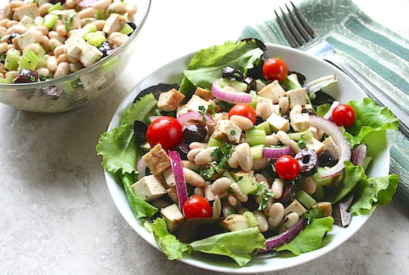 Tofu and White Bean Salad