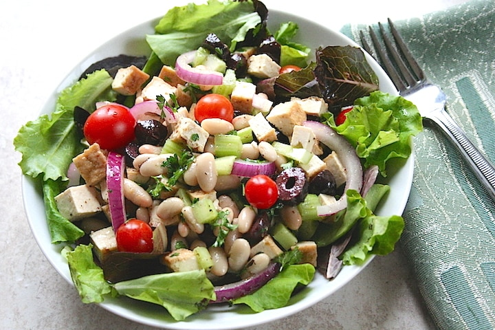Tofu and White Bean Salad recipe