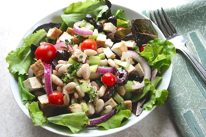 Tofu and White Bean Salad recipe