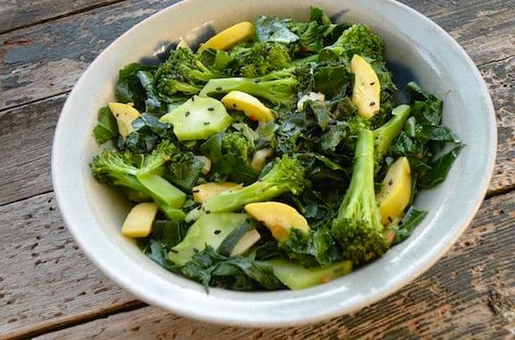 Sesame Broccoli and kale
