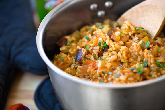 vegan Cajun dirty rice