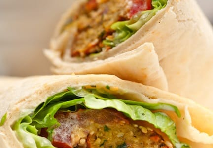 Falafel wraps detail