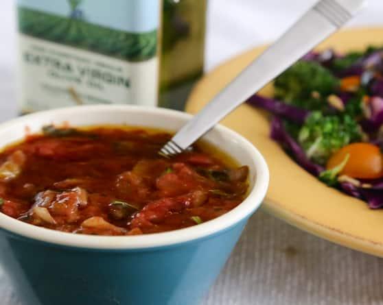 Salsa and olive oil salad dressing recipe