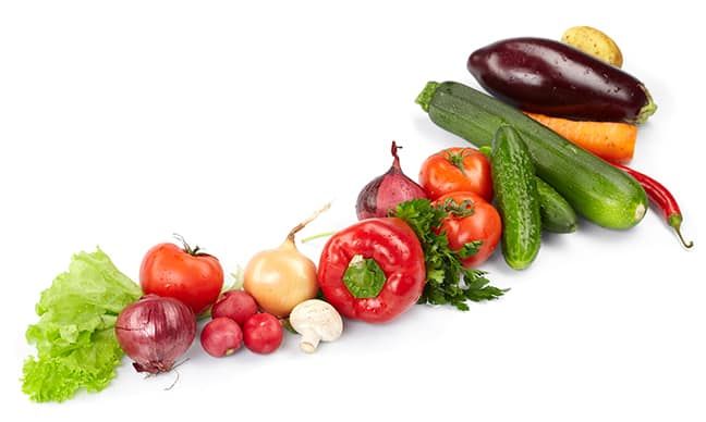 Healthy fresh vegetables