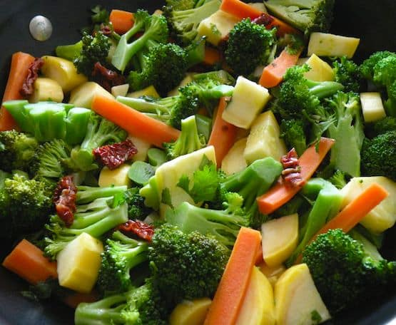 Broccoli, carrot, and squash sauté recipe