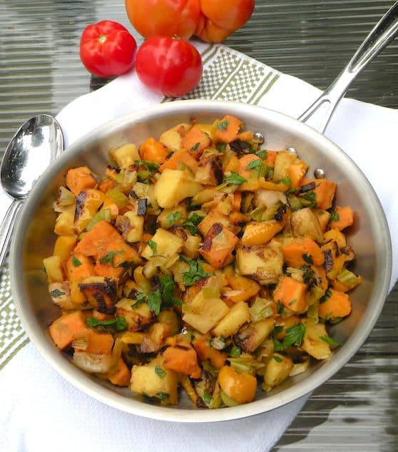leek and bell pepper hash browns recipe