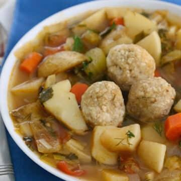 Sephardic style matzo ball soup