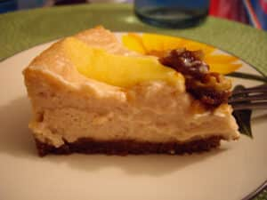 Roasted Apple Cheesecake