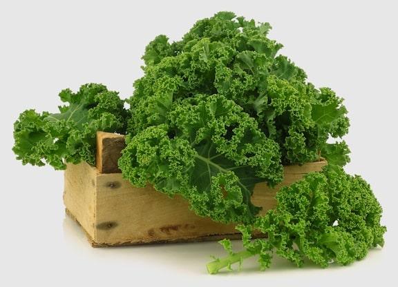 kale in CSA box