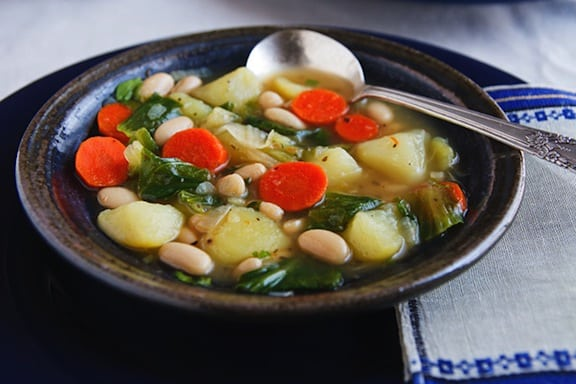 Italian-Style Potato and Escarole Soup