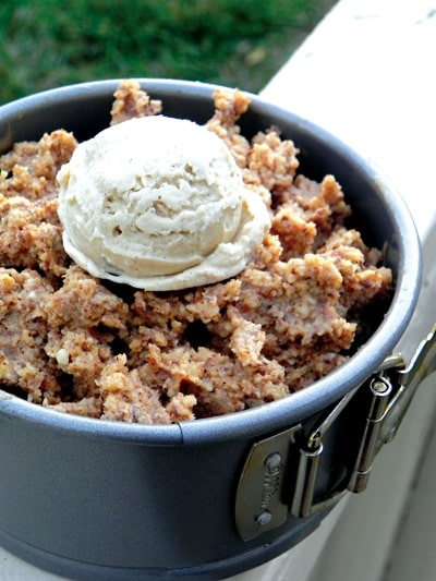 Warm Apple-Walnut Cobbler