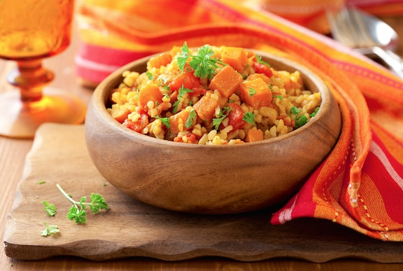 Bulgur with sweet potatoes