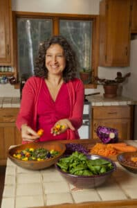 Leslie Cerier in her kitchen