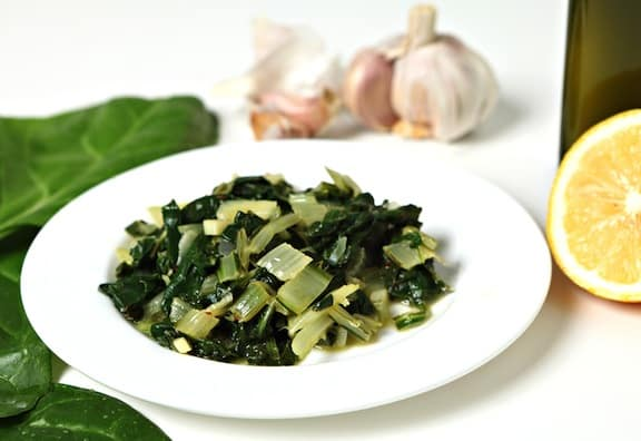 Simple Garlicky Greens