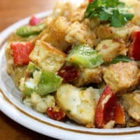 Marinated Potato and Tofu Salad with Dried Tomatoes