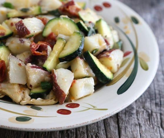 Warm Mediterranean potato salad