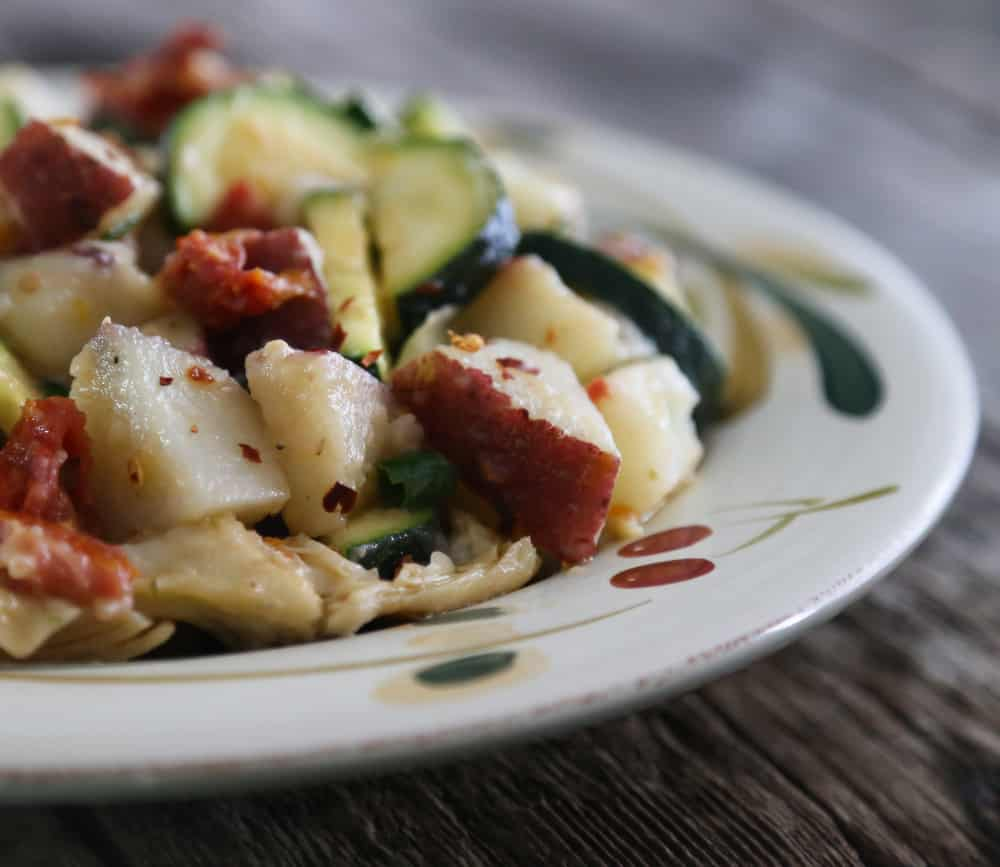 Warm Mediterranean potato salad recipe