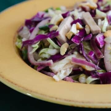 Miso Cabbage Salad