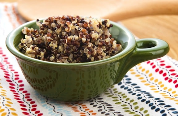 red, tan, and black quinoa