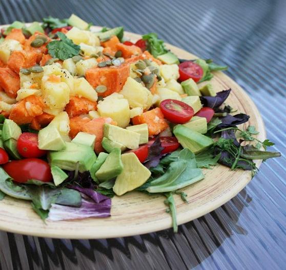 White and sweet potato salad recipe
