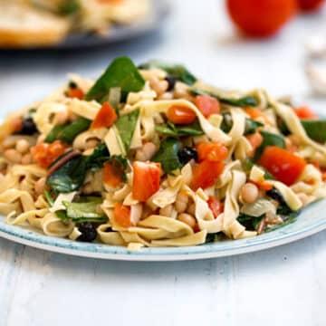 Chard and White bean pasta recipe